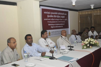 RTI workshop in North central Province