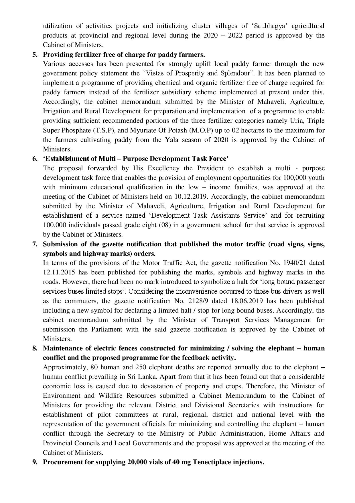 2 EDecisions taken at the meeting of the Cabinet of Ministers held on 08.01.2020 5 page 002