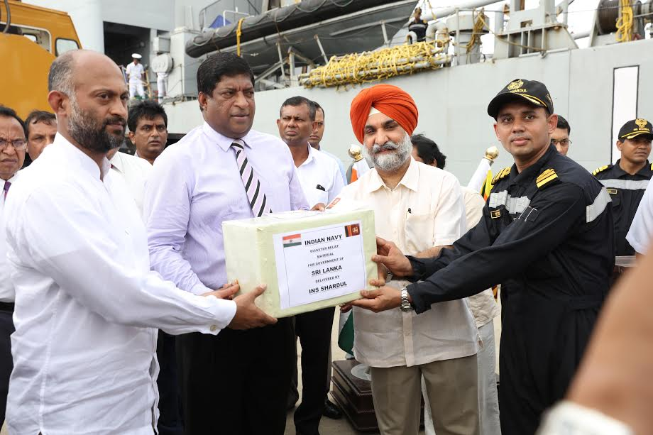 Second time the Indian donation ship coming at Colombo 8