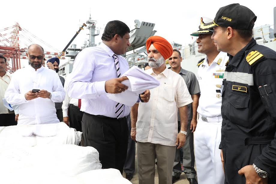 Second time the Indian donation ship coming at Colombo 6