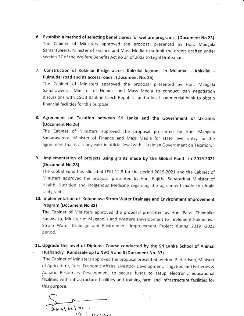 Cabinet Decision on 05.02.2019 English 2