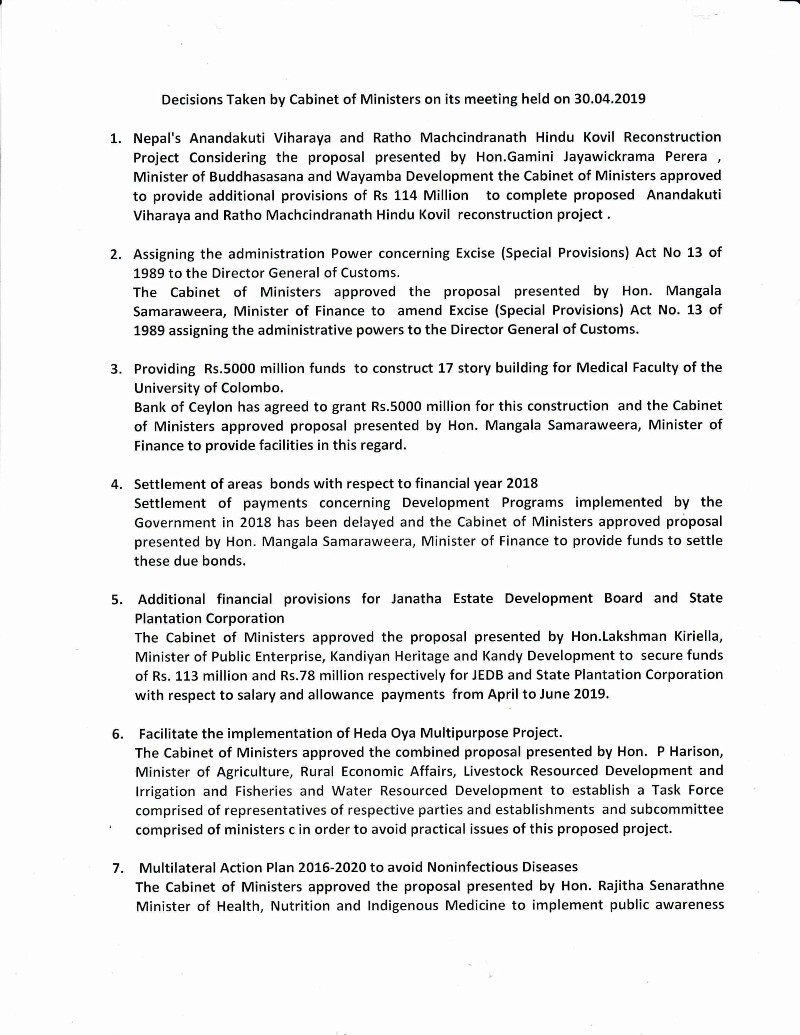 Cabinet Decision on 30.04.2019 English Translation 1 1