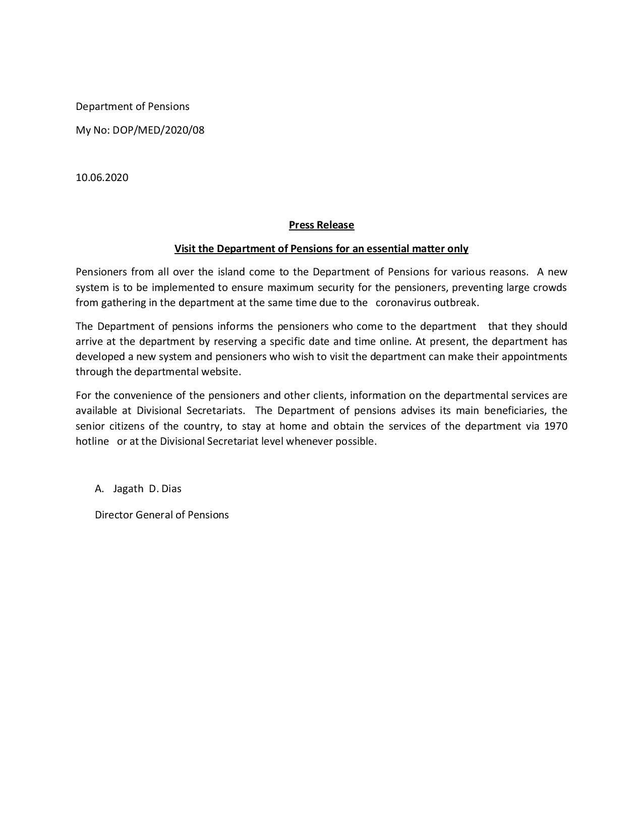 Press Release English Department of Pensions page 002