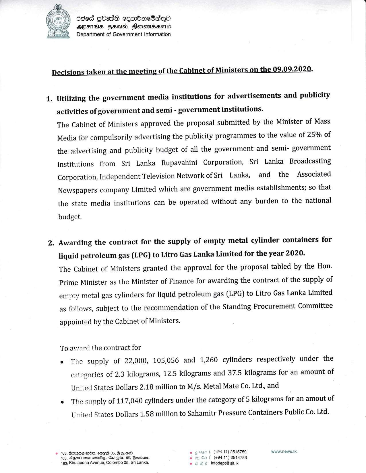 Cabinet Decision on 09.09.2020 English page 001