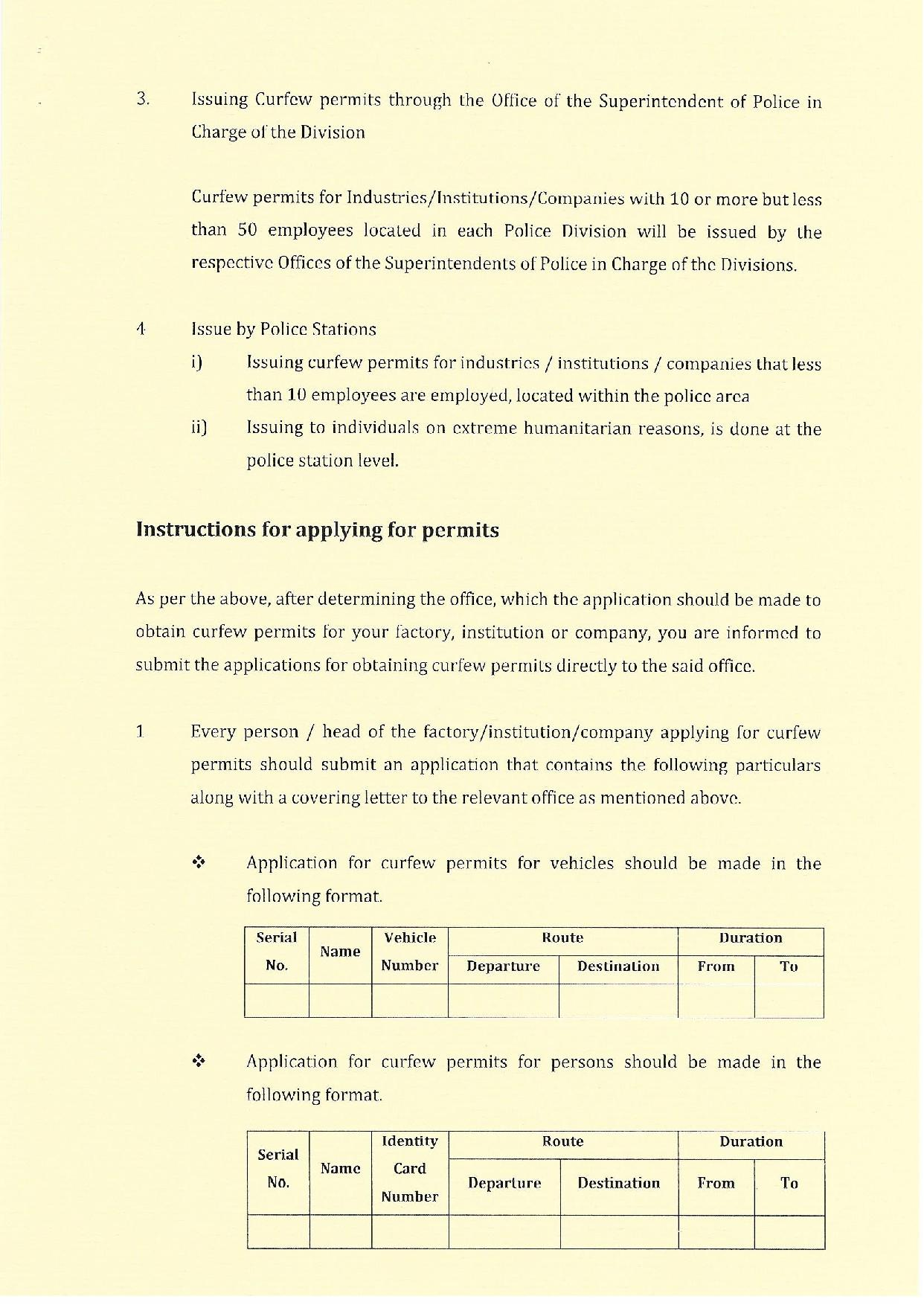 Streamlining The issuing of curfew permits English page 002