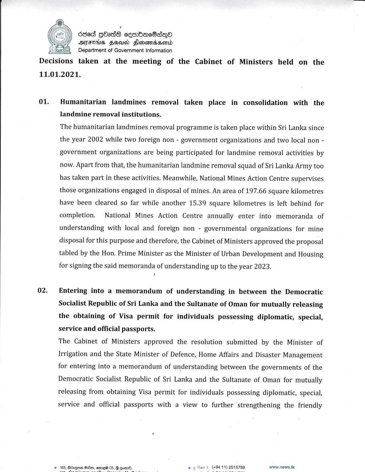Cabinet Decision on 11.01.2021 English page 001