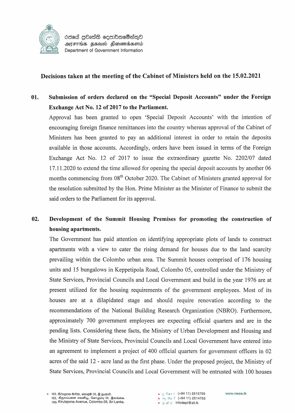 Cabinet Decision on 15.02.2021 English page 001