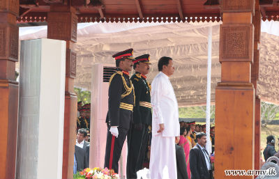 President Truncheon Awarded to Sri Lanka Sinha Regiment2017