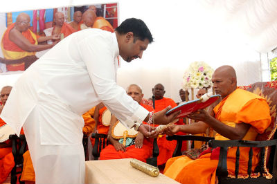 State Minister attends Investiture Ceremony of Ven Duwegoda Dammarama Thero 2017