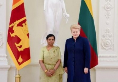 Ambassador of Sri Lanka in Sweden presents Credentials to Lithuanian President