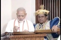 Prime Minister Modi Pays Homage to Temple of the Tooth Relic