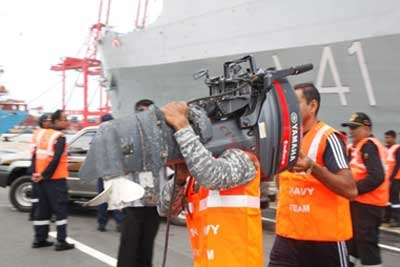 The 3rd Indian Naval Ship Carrying Relief Goods Arrived
