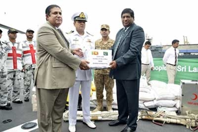 Pakistan Ship with Relief Goods Arrive